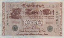 Allemagne 1000 Mark Brun numérotation verte - 1910 - 7 chiffres