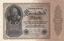 Allemagne 1000 Mark J. Herz - 1922 Série 21B