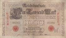 Allemagne 1000 Mark numérotation rouge - 1906 - 6 chiffres - TB - P.27