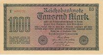 Allemagne 1000 Mark Vert, lilas