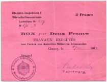 Allemagne 2 Francs Bon - 1 er Armée Allemande