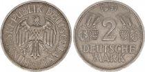 Allemagne 2 Mark Aigle - 1951 G Karlsruhe
