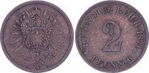 Allemagne 2 Pfennig, Armoiries - 1874 E