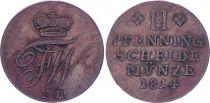 Allemagne 2 Pfennige, Friedrich Wilhelm - 1814 FR