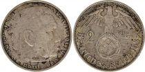 Allemagne 2 Reichsmark 1937A- Aigle, Hindenburg, argent