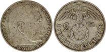 Allemagne 2 Reichsmark 1938A - Aigle, Hindenburg, argent