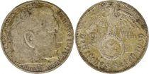 Allemagne 2 Reichsmark 1939A - Aigle, Hindenburg, argent
