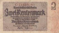Allemagne 2 Rentenmark 1937 p174b
