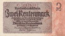 Allemagne 2 Rentenmark 1937 Série C - Neuf - P.174b