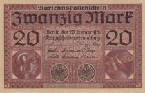 Allemagne 20 Mark - Minerve et Mercure - 20-02-1918 - P.57 - Neuf