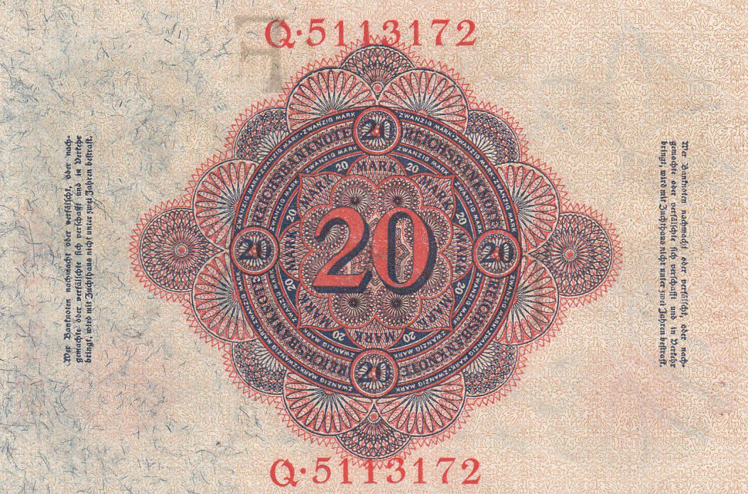 Allemagne 20 Mark Aigle - 1914 - P.46b - p.Neuf