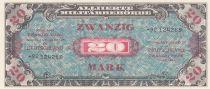 Allemagne 20 Mark Impr. américaine - 1944 8 digit 92124289 - sans F