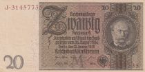 Allemagne 20 Rentenmark 1929 - Série J - SPL - P.181
