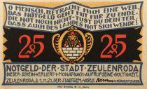 Allemagne 25 Pfennig, Zeulenroda - notgeld 1921 - NEUF