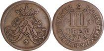 Allemagne 3 Pfennig Munster  - Armoiries -1712