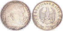 Allemagne 5 mark, Paul von Hindenburg - 1935 G