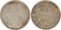 Allemagne 5 Mark 1934D - Aigle, Eglise de Postdam, argent