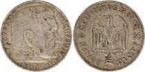 Allemagne 5 Mark 1935D - Aigle, Hindenburg, argent
