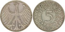 Allemagne 5 Mark 1965J - Aigle, argent