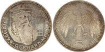 Allemagne 5 Mark 1969F - Aigle, G. Mercator, argent