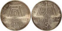 Allemagne 5 Mark 1971D - Aigle, Naissance d\'A. Dürer, argent