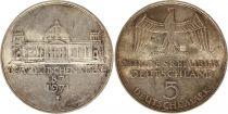 Allemagne 5 Mark 1971G - Aigle, Reichstag, argent