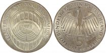 Allemagne 5 Mark 1973G - Aigle, Parlement de Francfort, argent