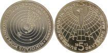 Allemagne 5 Mark 1973J - Aigle, Ann naissance de N. Copernic, argent