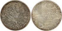 Allemagne 5 Mark 1974D - Aigle, Emmanuel Kant, argent