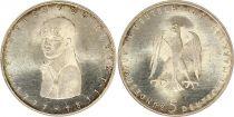 Allemagne 5 Mark 1977G - Aigle, Heinreich Von Kleist, argent
