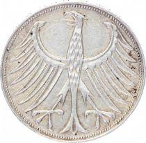 Allemagne 5 Mark Aigle Impérial - 1959