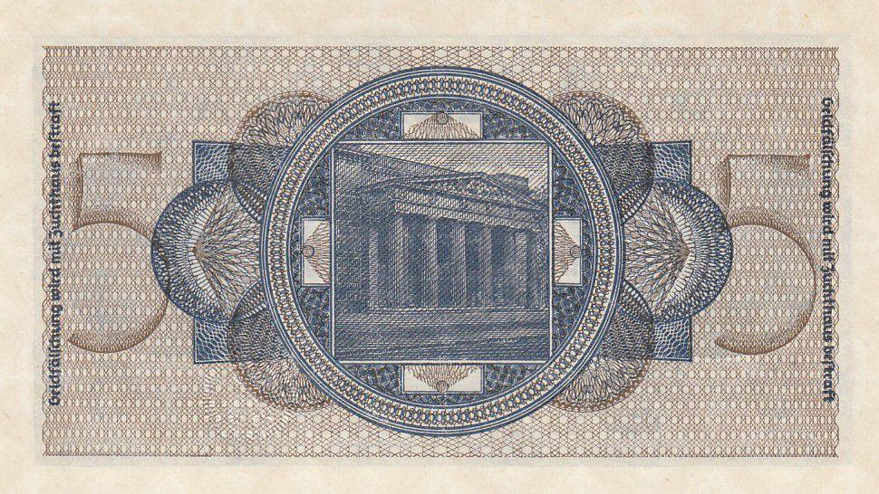 Allemagne 5 Reichsmark - ND (1940-1945) Série K - P.R.138 - Neuf