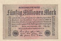 Allemagne 50 000 000 Mark 1923 p109c