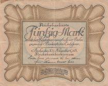 Allemagne 50 Mark Brun-olive, gris \'\'Egg Note\'\' - 1918 - TTB