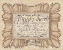 Allemagne 50 Mark Brun-olive, gris