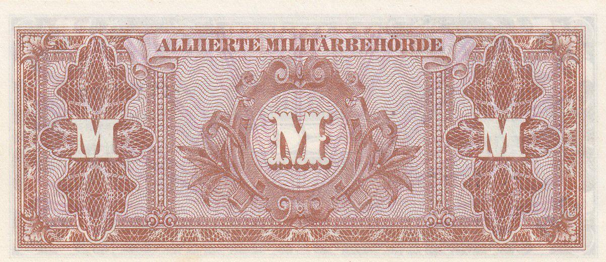 Allemagne 50 Mark Impr. américaine - 1944 8 digit 84751058- sans F
