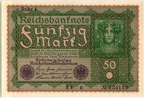Allemagne 50 Mark Portrait de femme - 1919 - Reihe 1 Série BI a - SPL - P.66