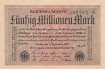 Allemagne 50 Millionen Mark - 1923 - P.109 - Neuf
