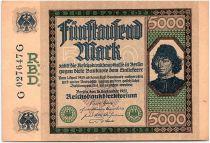 Allemagne 5000 Mark Spinelli - 1922