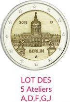 Allemagne LOT 5 x 2 Euro BERLIN - 2008