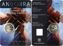 Andorra 2 Euros, 25 years of Andorran Constitution - 2018 Coincard