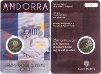 Andorra 2 Euros, Customs Union - 2015 Coincard