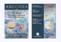 Andorra 2 Euros, Human Rights - 2018 Coincard - Delivery 04-12-2018