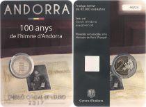Andorra 2 Euros, Hymn of Andorra - 2017 Coincard -