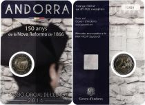 Andorra 2 Euros, Shape of 1866 - 2016 Coincard