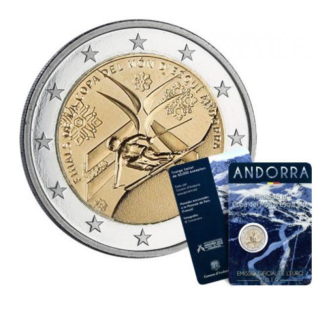 Andorra 2 Euros, Ski Alpin - 2019 Coincard