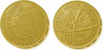 Andorra 50 Euros, 25 years of Andorran Constitution - 2018 Gold