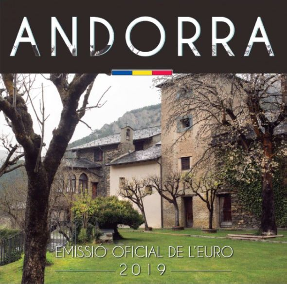 Andorra Proof set of Andorra 2019 -  8 coins BU in Euros 2019