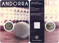 Andorre 2 Euros, 25 ans de la Télévision d\'Andorre - 2016 Coincard