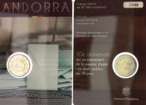 Andorre 2 Euros, Majorité à 18 ans - 2015 Coincard - DISPO